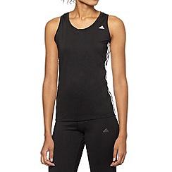 adidas - Black logo mesh tank top
