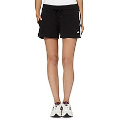 adidas - Black woven fitness shorts