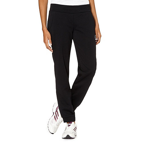 adidas - Black cuffed jogging bottoms