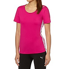 adidas - Pink perforated gym t-shirt