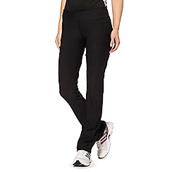 adidas - Black straight leg gym pants