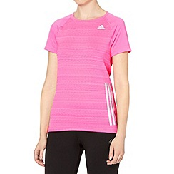 adidas - Bright pink 'Supernova' running t-shirt