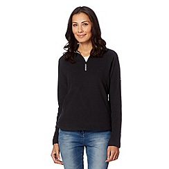Berghaus - Black zip neck fleece top