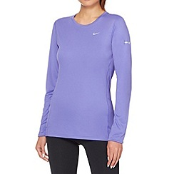 Nike - Purple 'Miler' running top