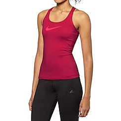 Nike - Pink logo mesh tank top