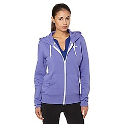 Nike - Purple 'Club' zipped hoodie