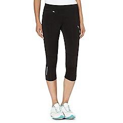 Puma - Black three quarter fitness leggings