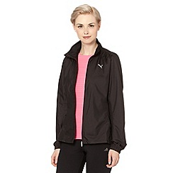 Puma - Black wind resistant running jacket