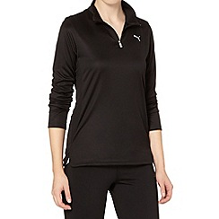 Puma - Black mesh back running top