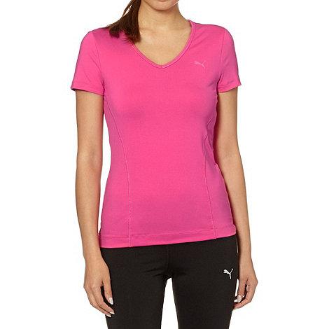 Puma - Pink stretch gym t-shirt