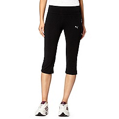 Puma - Black tight fit capri pants