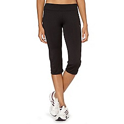 Puma - Black flared three quarter fitness leggings