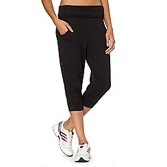 Reebok - Black loose cuffed capri pants