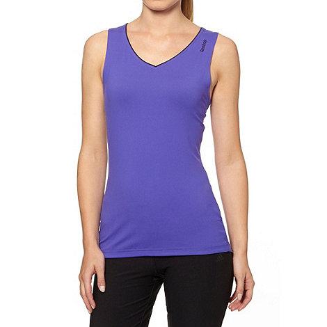 Reebok - Purple slim fit tank top
