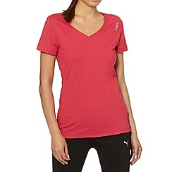 Reebok - Pink V neck gym t-shirt