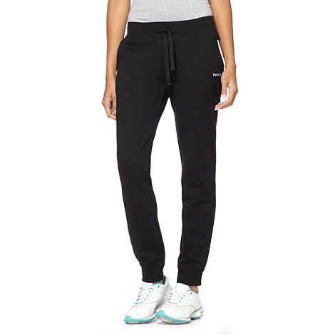 Reebok - Black cuffed fleece lined jogging bottoms