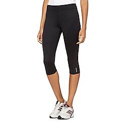 Reebok - Black mesh insert tight capri pants