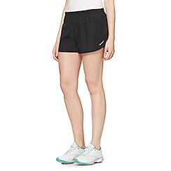 Reebok - Black woven running shorts