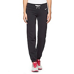Nike - Black 'Swoosh' sports joggers