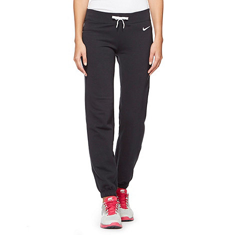 Nike - Black +Swoosh+ sports joggers