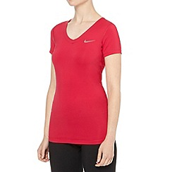 Nike - Dark pink V neck top