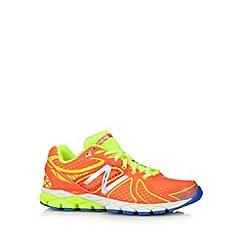 New Balance - Orange mesh patterned 'W870' running trainers
