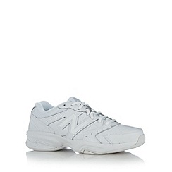 New Balance - White 'Gym WX624' leather trainers