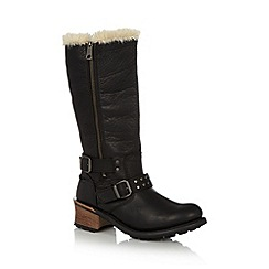 Caterpillar - Black leather 'Florencia' boots