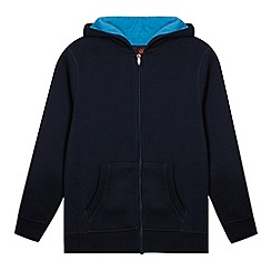 Canterbury - Boy's navy zip through hoodie
