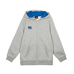 Canterbury - Boy's grey zip through hoodie