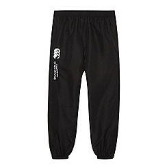 Canterbury - Boy's black cuffed jogging bottoms