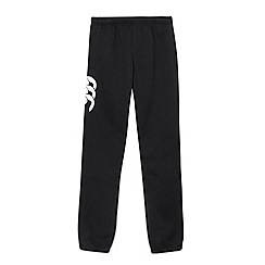 Canterbury - Boy's black applique logo cuffed jogging bottoms
