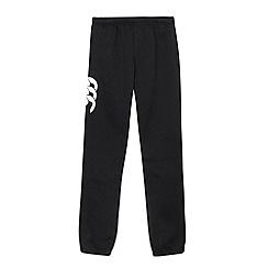 Canterbury - Boy's black applique logo cuffed jogging bottoms