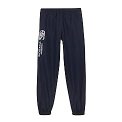 Canterbury - Boy's navy applique logo cuffed jogging bottoms