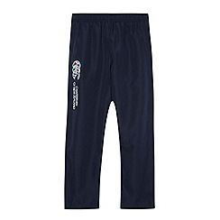 Canterbury - Boy's navy zip cuff jogging bottoms