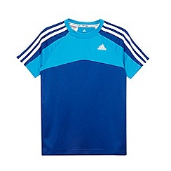 adidas - Boy's royal blue 'Clima' panel t-shirt