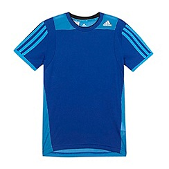 adidas - Boy's dark blue 'Clima' t-shirt