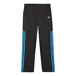 adidas - Boy's black woven 'ClimaCool' jogging bottoms
