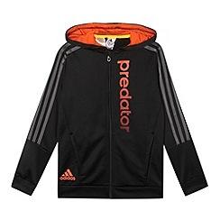adidas - Boy's black 'Predator' hoodie