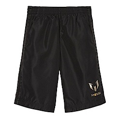 adidas - Boy's black 'Messi' mesh lined shorts