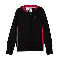 adidas - Girl's black cut and sew zip through hoodie