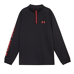 Under Armour - Boy's black technical zip neck sports top