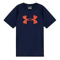 Under Armour - Boy's navy logo t-shirt