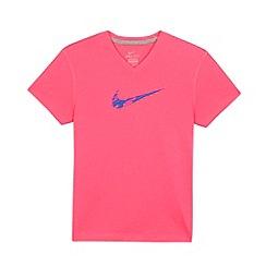 Nike - Girl's pink logo t-shirt
