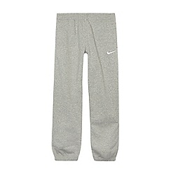 Nike - Boy's grey cuffed jersey trousers