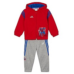 adidas - Babies red 'Spider-Man' tracksuit