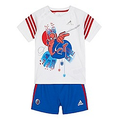 adidas - Babies white 'Spider-Man' t-shirt and bottoms