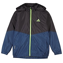 adidas - Boy's black linen fleece jacket