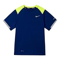Nike - Boy's blue 'Miller' cut and sew t-shirt