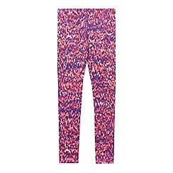 Nike - Girl's pink patterned tight sports trousers
